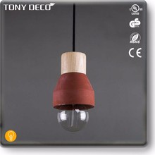 BAA60584 Custom Red Cement Concrete Colorful Hanging Light