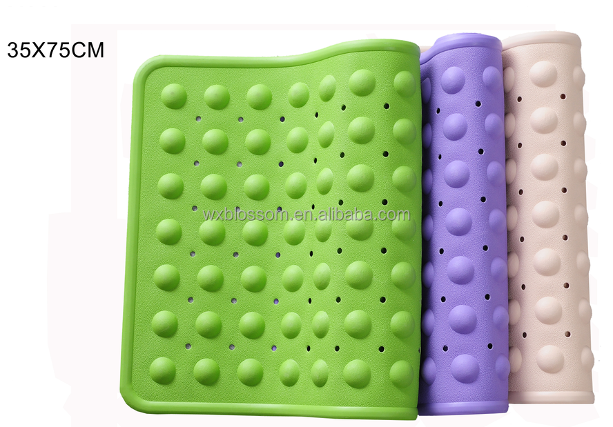 Different size natural rubber shower mat with non slip