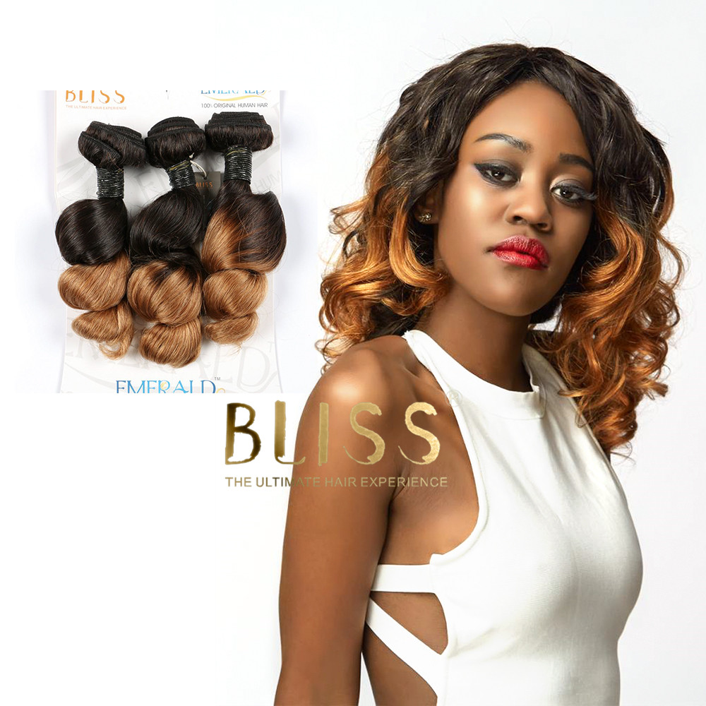 Bliss T color Spring Wave Virgin 3 in 1 Bundles remy Human Hair <strong>weaves</strong>