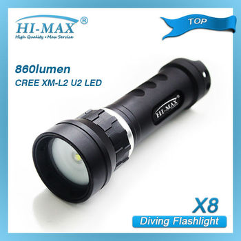 Wholesale price CREE xm-l2 diving video light 860 lumen diving equipment