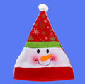 Factory direct sell 2017 new christmas hat santa hat with snowman decoration