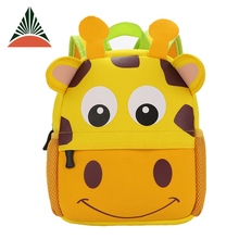 Cheap 3D Animal Printinig Neoprene Kids Cartoon Picture Of Baby School Bag