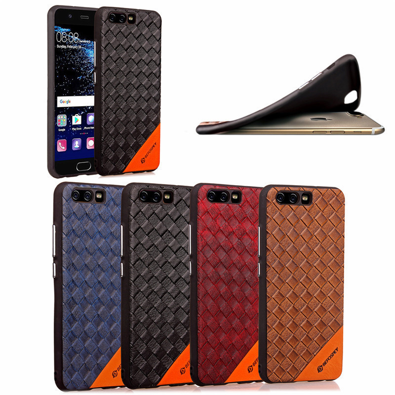 Hot Selling Wholesale Factory Price Braided Pattern Ultra TPU Soft Mobile Phone Back Cover Cases for Huawei P10 Plus