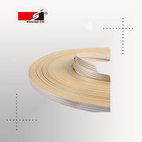 sgs plastic audited factory PVC wooden grain edge banding protection for furniture