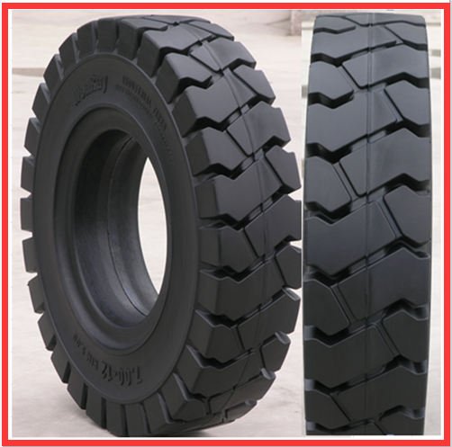 Hot china products wholesale forklift solid rubber wheel tires , 7.00-12 solid forklift tires Used On Small Warehouse