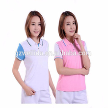 100% Polyester Dry Fit Sports Polo Shirt Custom Eyelet Raglan Sleeve Golf Polo T Shirt for Women OEM
