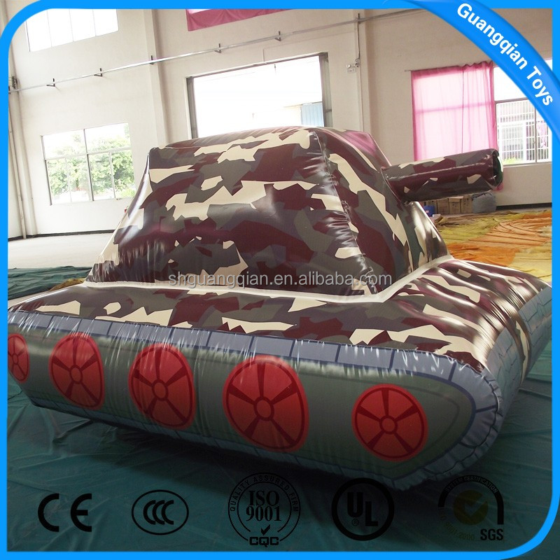 Guangqian Inflatable Tank Cartoon Shape,Advertising Promotion Inflatable Character For Sale