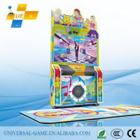 Newest! 2015 Carton Fair Cute Baby Coin Pusher Type Arcade Dance Game Machine, Arcade Dance Game Machine, Arcade Dancing Machine