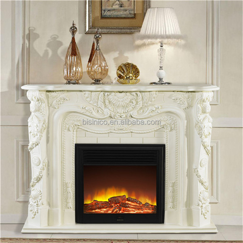 Frence hand painted wooden fireplace elegant home for Unique mantel decor