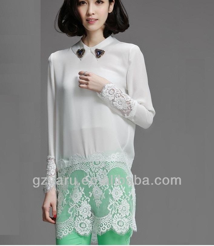 sari bluse hals muster hochzeit transparente bluse xl hemd produkt id 1723914631. Black Bedroom Furniture Sets. Home Design Ideas