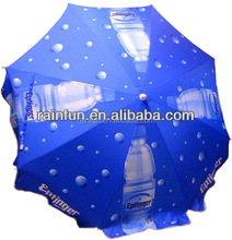 White Powder-coated Steel Brand Promotion Custom Beach Umbrella