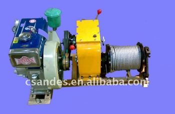 3 Ton Engine Powered Hoist Winch Drum With Wire Rope