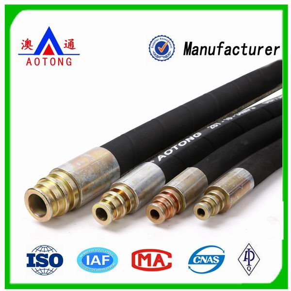 Chinese manufacturer supply High Pressure Steel Wire Braided Hydraulic Rubber Hose ,50-100m/roll
