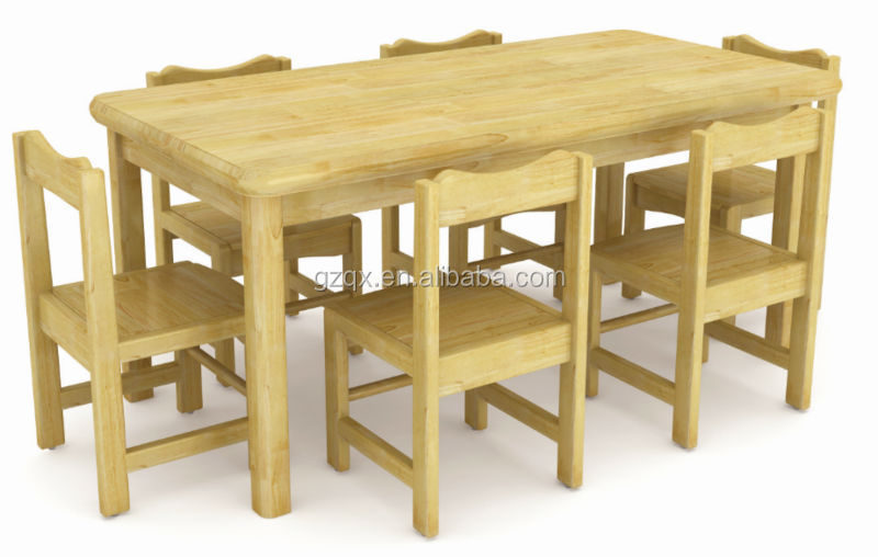 Imported Pine Wood Student Table ChairWooden Children