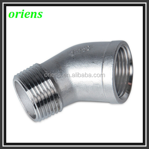 stainless steel pipe fitting Investment Casting 45 Degree Special Elbow Fitting