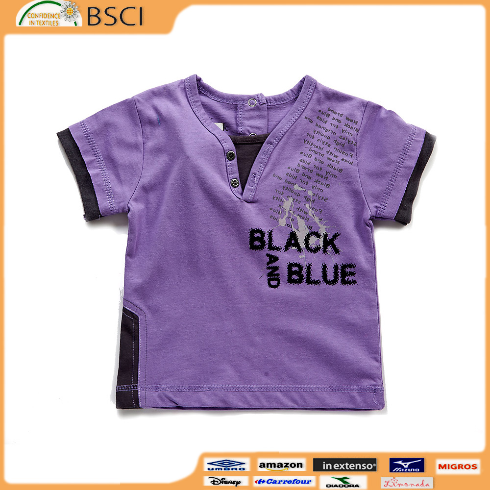 Summer Short Sleeve Cotton Baby Boys Casual T-shirts China supply 100% Cotton plain short sleeve