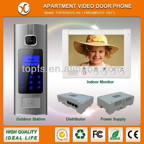 Door entry video phone system for apartment building