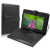 "10"" universal micro USB keyboard and leather case for 10 inch tablet pc"