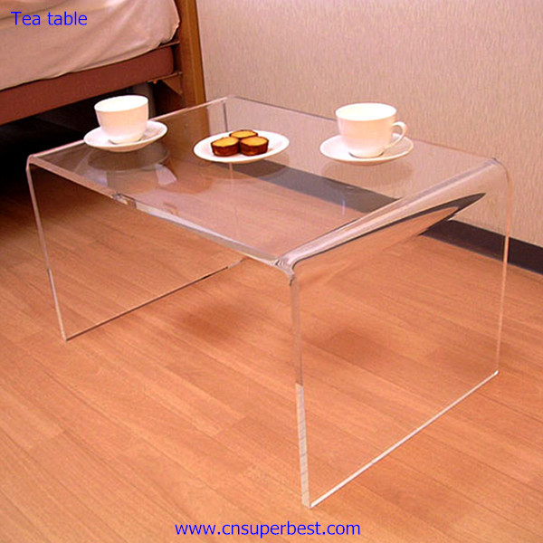 Home and office furniture transparent acrylic tea table