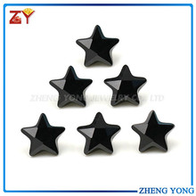 black semi-precious stone 5X5mm star shape cz cubic zirconia synthetic loose black diamonds carat prices