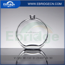 flat round apple shape glass perfume bottle 100ml
