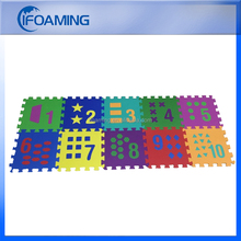 Colorful Numbers Puzzles 10-tile EVA Kids Foam Play Mats by Ifoaming