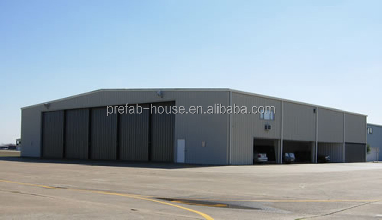 Large span long service life prefab workshop metal shed modular cheap aircraft hangar for Mauritius