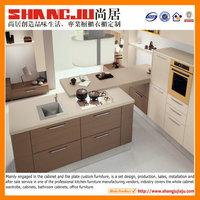 Melamine kitchen Professional design 3d ultra modern kitchen cabinets
