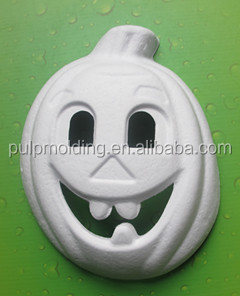 Factory Wholesale Unpainted DIY Craft Product White Paper Mache Animal Party Mask for kids