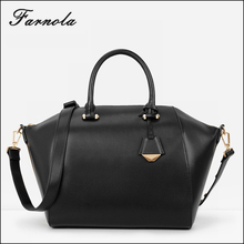 Guangzhou wholesale fashion EUROPE style women genuine leather hand bag ladies black bags handbag women