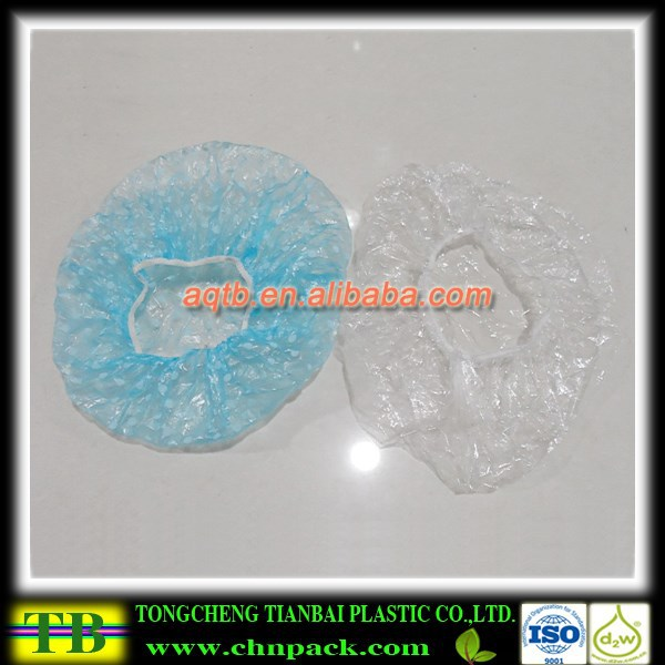plastic disposable shower cap for hotel,buffant cap,hotel shower cap