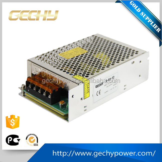 S-60W 5v,12v,24v AC/DC compact single output enclosed 12v led switching power supply