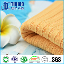 Drop Needle Coolplus Jacquard Plain Rib Cloth