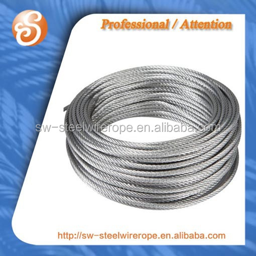 G.I. steel wire cable 7x19 or 6x19+iws FC IWRC