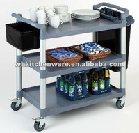 Heavy Duty Plastic & stainless steel food service carts and trolley