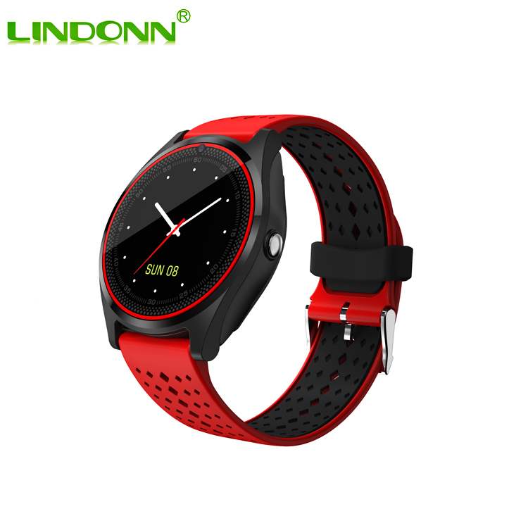 Touch Round Screen Bluetooth Smart Watch Phone New Dual Color Band Wholesale Unlocked Smart Watch Mobile Phone