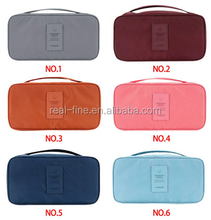 Nylon+polyester fibre Organizer Bag Pouch Case Travel Trip Luggage Bra Underwear Lingerie Handbag 6colors availabl garment bags