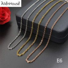 Make Factory Price Cool Jewelry gold and rose gold Girls thin Long Link Stainless Steel Necklace Chain for jewelry making