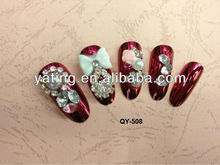 provide all kinds nail art.cosmetics.3D Nail tip bride nail tips