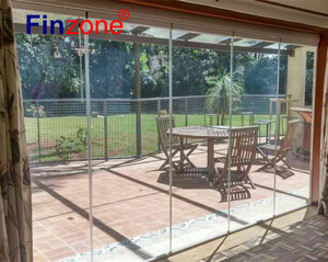 newest design sliding frameless glass curtain wall for terrace glazing with good quality