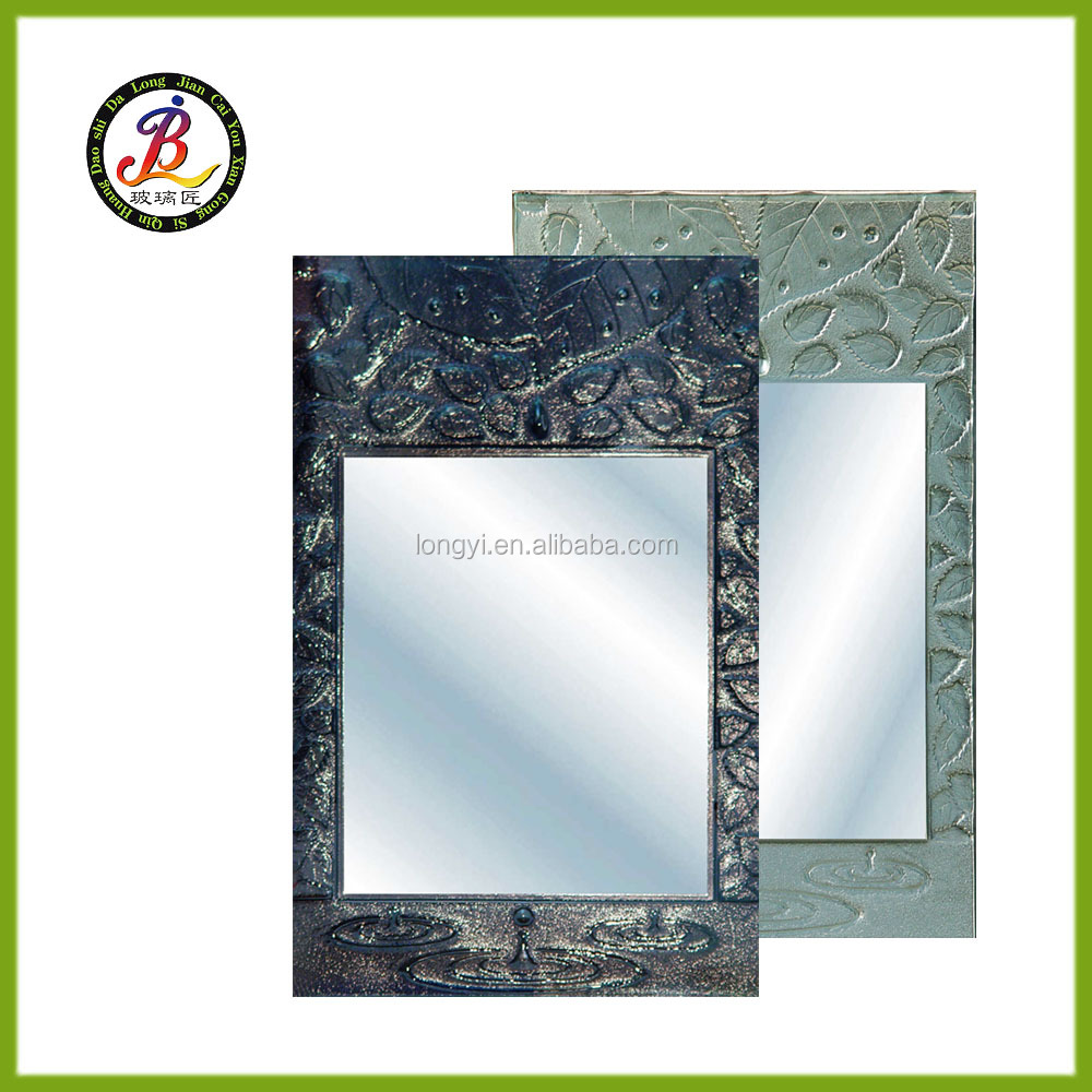 leaf water decoration ink rail color mirror glass