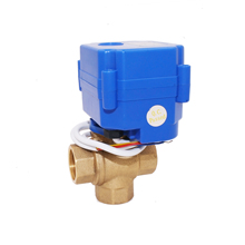 "mini brass 3 way ball motor valve with 1/2 inch 1/2"" dn15, 3/4"" dn20 female male"