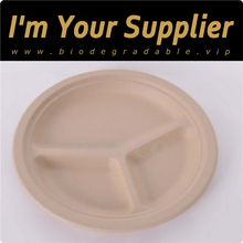 Eco biodegradable paper divided dishes divided round food lunch plates