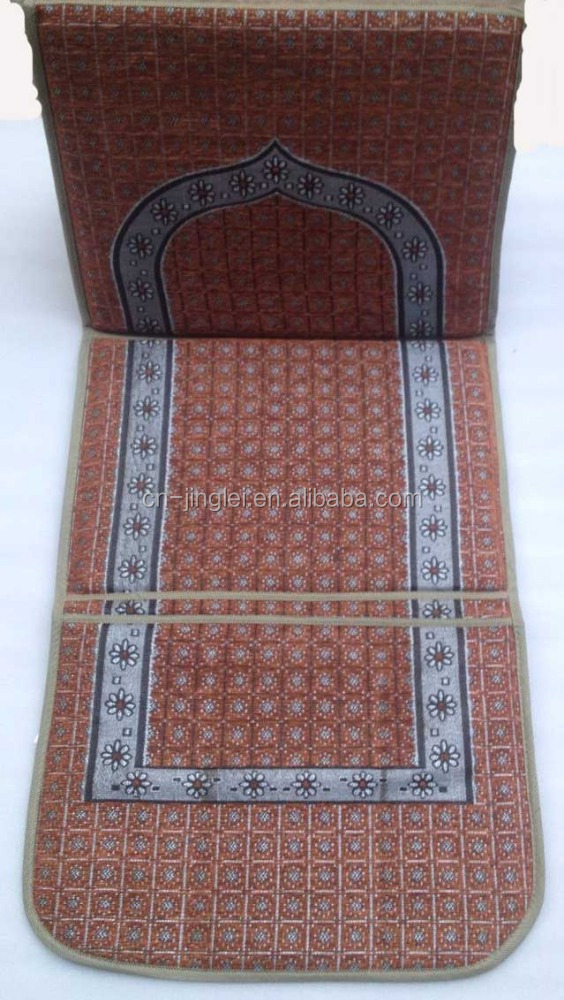 Islam foldable prayer Chair mat with backrest