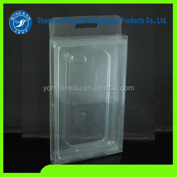 clear plastic boxes for phone case, Mobile accessories packing