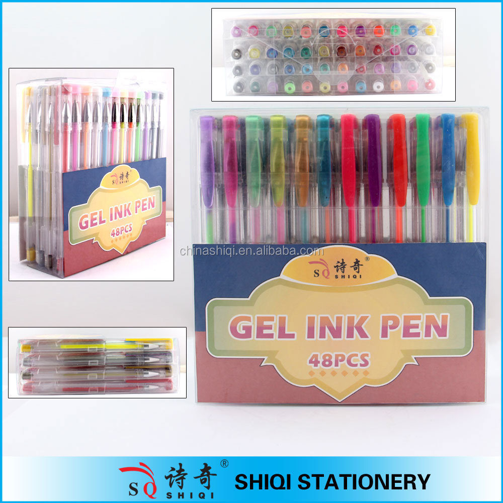 Colored Gel Pen 48-Piece Value Set