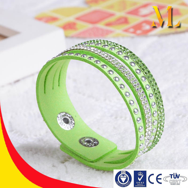 MBRL20 Metal clasp wholesale high quality purple /red/blue/green/white shinning colorful crystal bracelet