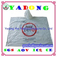 Disposable PE raincoat/rainwear central,logo disposable rain poncho,PE poncho outdoor