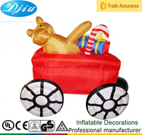 DJ-186 6ft middle indoor inflatable christmas car bear gift outdoor decoration