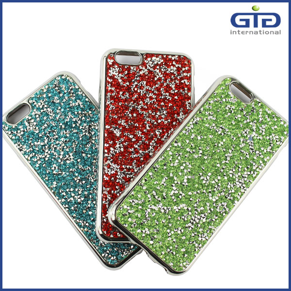 [GGIT] Free Sample Beautiful Bling Glitter Electroplating TPU Mobile Phone Back Case Cover for iPhone 6